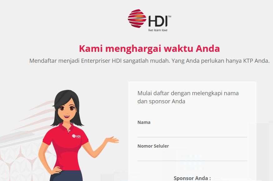 Registrasi Bisnis HDI